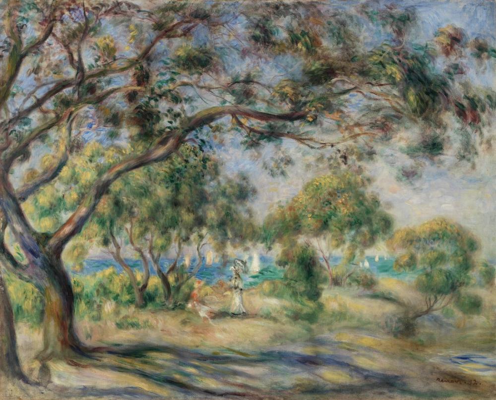 Pierre Auguste Renoir Bois De La Chaise Noirmoutier, Canvas, Pierre Auguste Renoir, kanvas tablo, canvas print sales