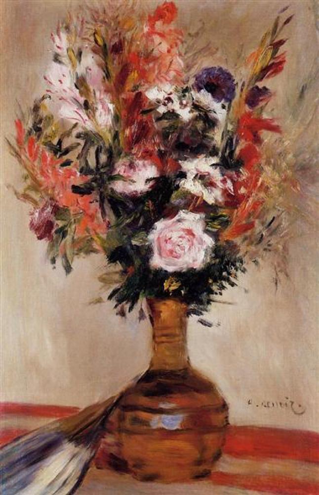 Renoir Vazoda Güller 2 Yağlıboya Tablo, Kanvas Tablo, Pierre Auguste Renoir, kanvas tablo, canvas print sales