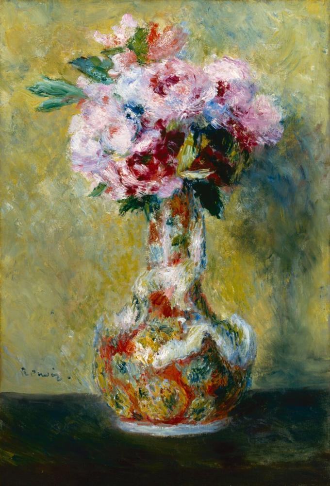 Pierre Auguste Renoir Bouquet in a Vase, Canvas, Pierre Auguste Renoir, kanvas tablo, canvas print sales