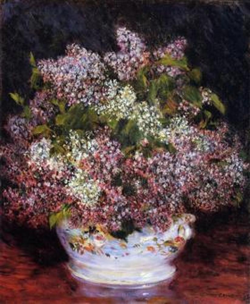 Renoir Çiçek Buketi Yağlıboya Tablo, Kanvas Tablo, Pierre Auguste Renoir, kanvas tablo, canvas print sales