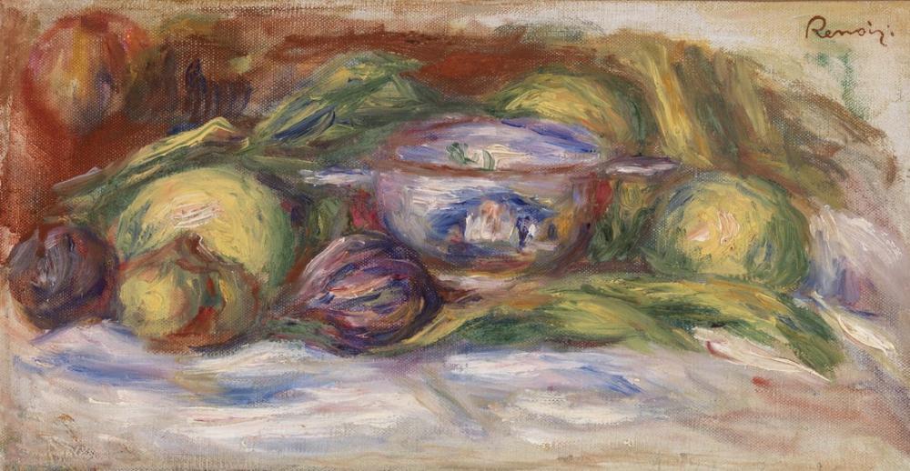 Pierre Auguste Renoir Bowl Figs and Apples, Canvas, Pierre Auguste Renoir, kanvas tablo, canvas print sales