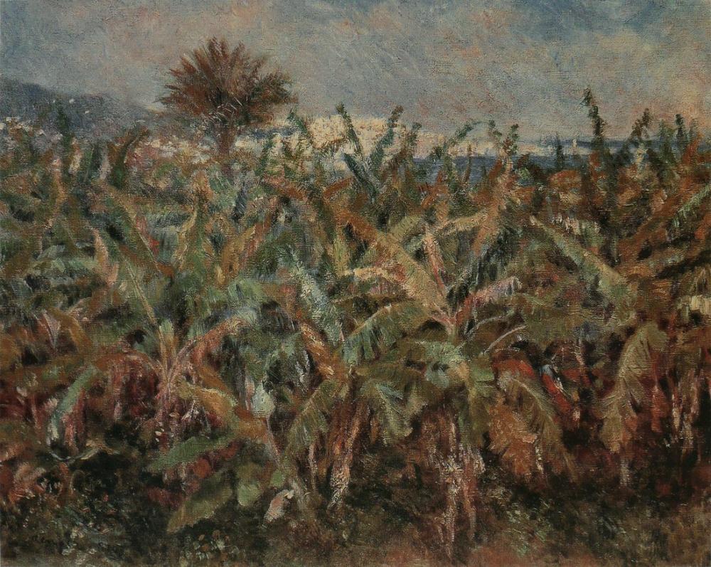 Pierre Auguste Renoir Champ De Bananiers, Canvas, Pierre Auguste Renoir, kanvas tablo, canvas print sales