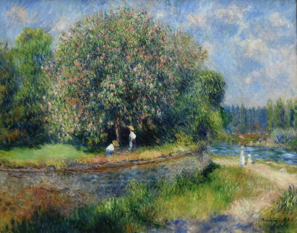 Pierre Auguste Renoir Chestnut Tree in Blossom 1881, Canvas, Pierre Auguste Renoir, kanvas tablo, canvas print sales