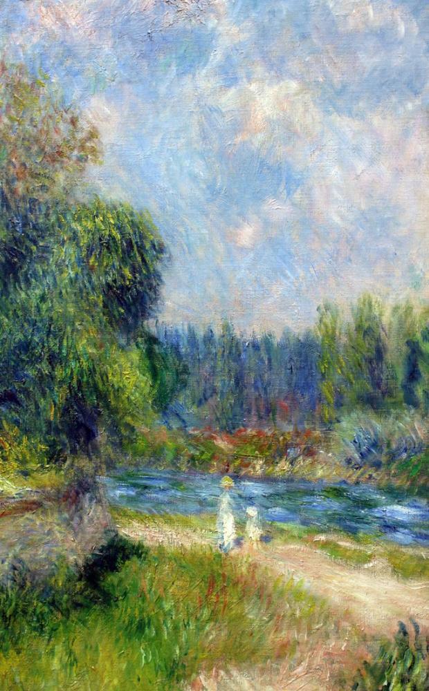 Pierre Auguste Renoir Kestane Ağacı Çiçeği, Kanvas Tablo, Pierre Auguste Renoir