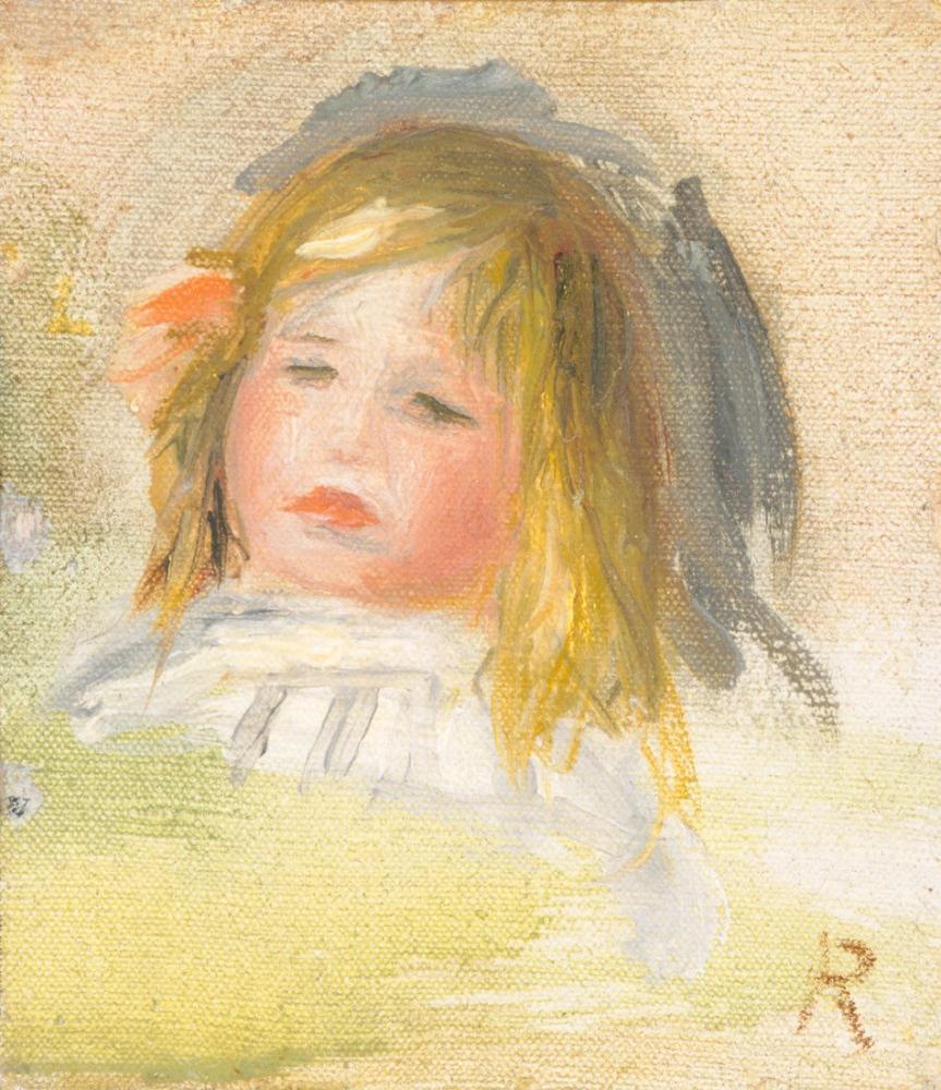 Pierre Auguste Renoir Child with Blond Hair, Figure, Pierre Auguste Renoir, kanvas tablo, canvas print sales