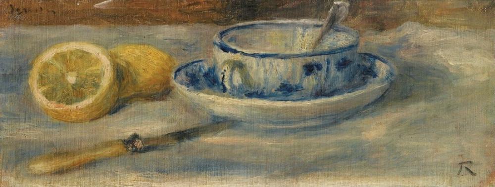 Pierre Auguste Renoir Citron et Tasse Bleue Fragment, Canvas, Pierre Auguste Renoir, kanvas tablo, canvas print sales