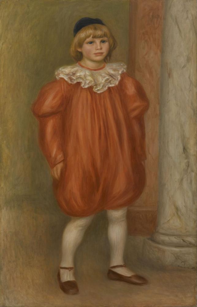 Pierre Auguste Renoir Claude In Clown Costume, Canvas, Pierre Auguste Renoir, kanvas tablo, canvas print sales