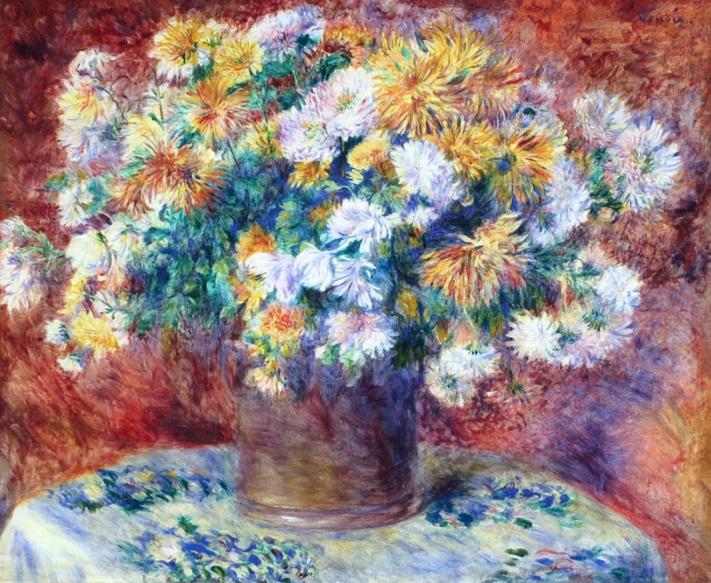 Pierre Auguste Renoir Crisantemi 1881, Canvas, Pierre Auguste Renoir, kanvas tablo, canvas print sales