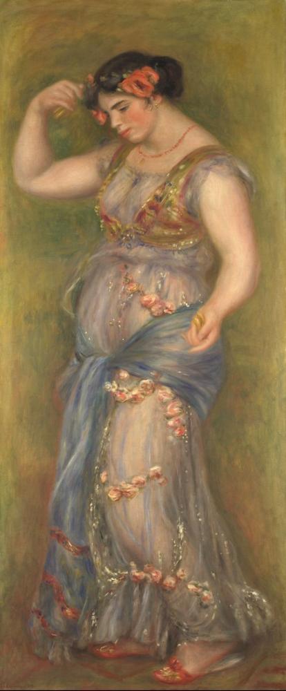Pierre Auguste Renoir Dancing Girl with Castanets, Canvas, Pierre Auguste Renoir, kanvas tablo, canvas print sales