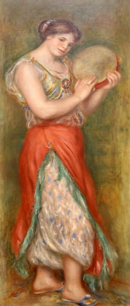 Pierre Auguste Renoir Danzatrice Con Tamburello 1909, Canvas, Pierre Auguste Renoir, kanvas tablo, canvas print sales