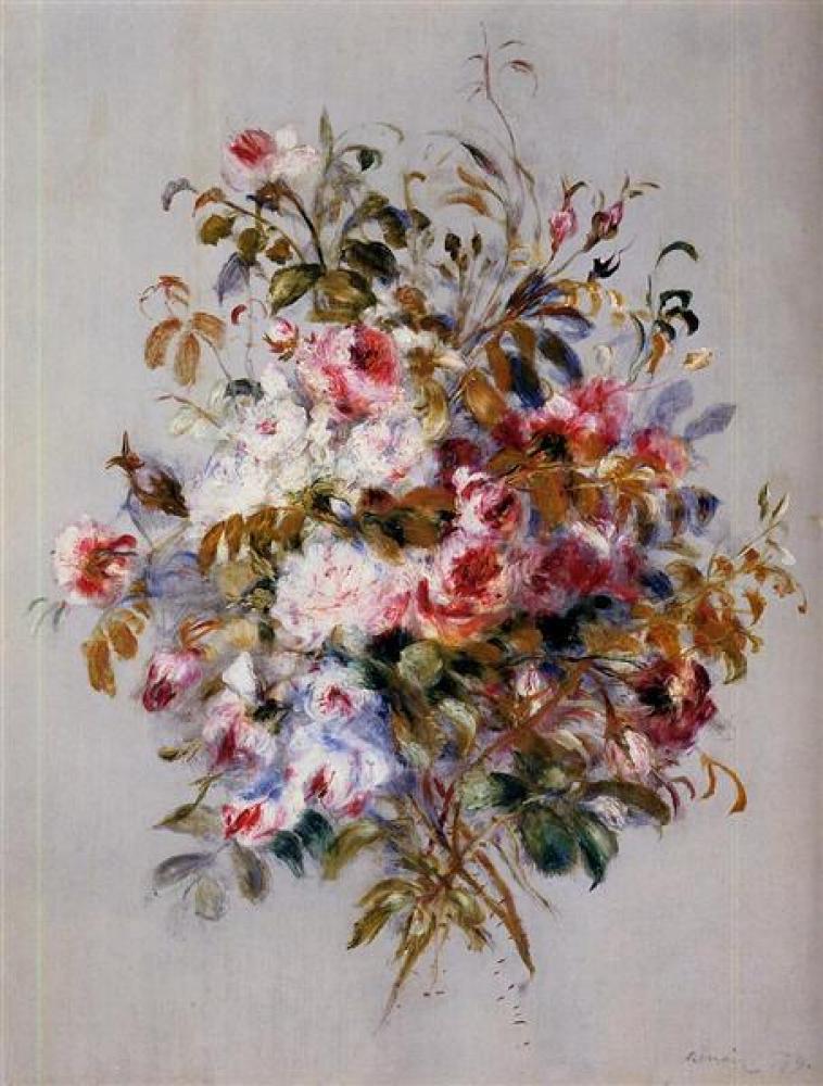 Renoir Gül Buketi Yağlıboya Tablo, Kanvas Tablo, Pierre Auguste Renoir, kanvas tablo, canvas print sales