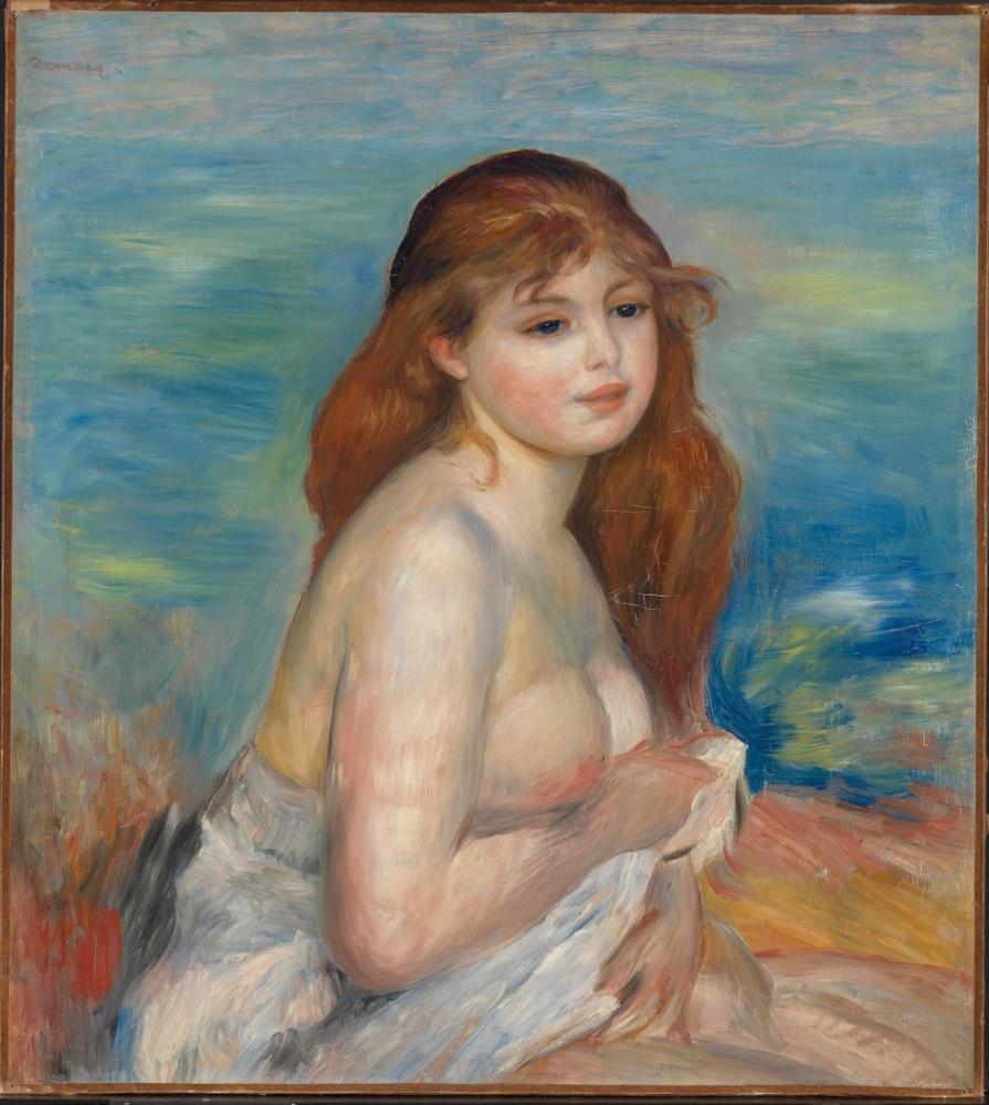 Pierre Auguste Renoir Banyodan Sonra, Kanvas Tablo, Pierre Auguste Renoir, kanvas tablo, canvas print sales