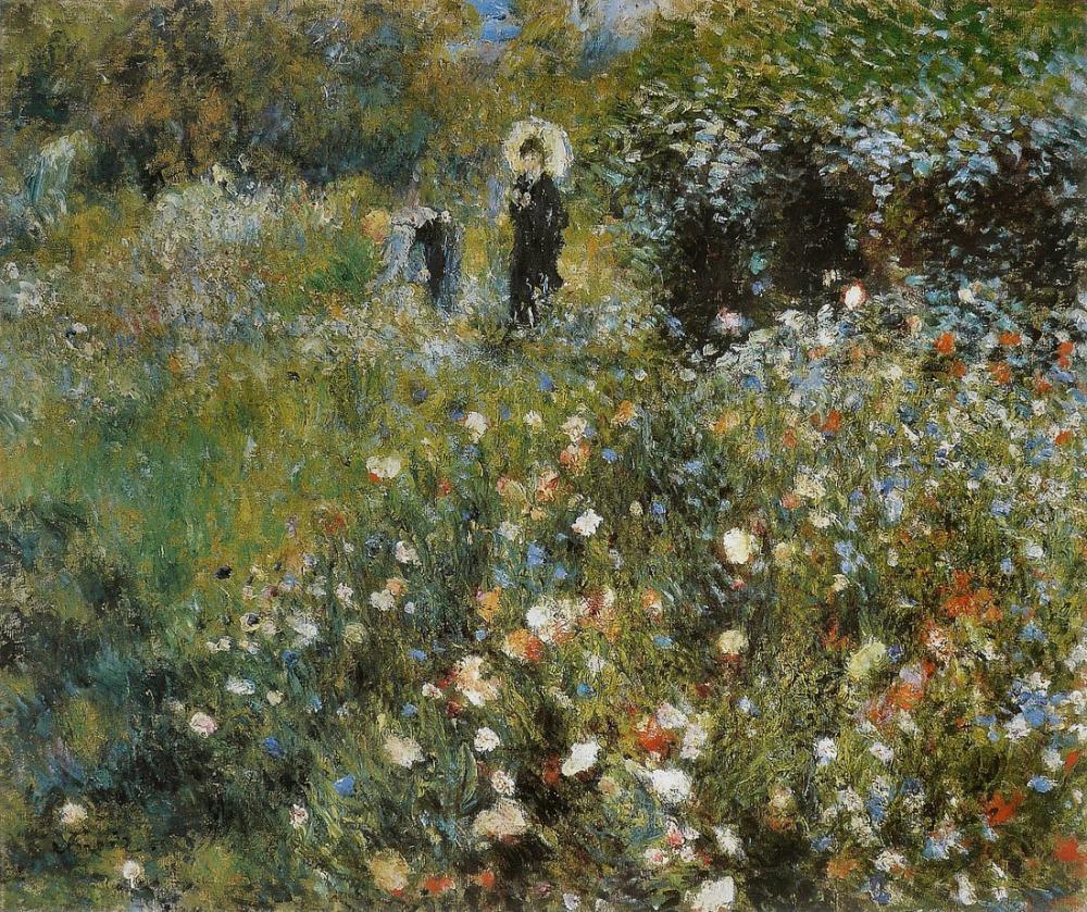 Pierre Auguste Renoir Femme A l Ombrelle, Figure, Pierre Auguste Renoir, kanvas tablo, canvas print sales