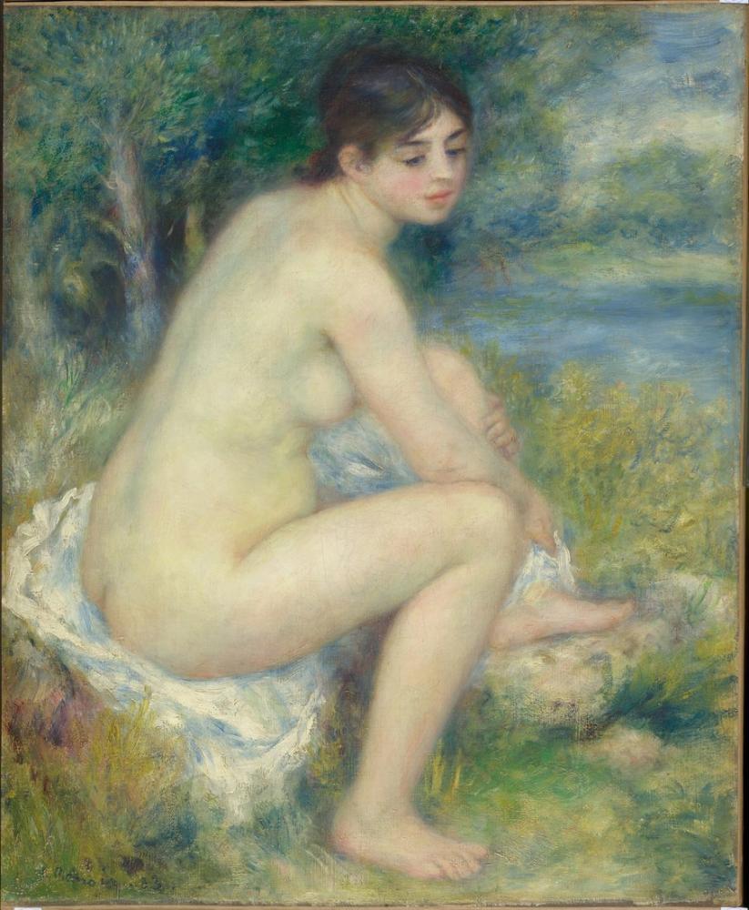 Pierre Auguste Renoir Femme Nue Dans Un Paysage, Canvas, Pierre Auguste Renoir, kanvas tablo, canvas print sales