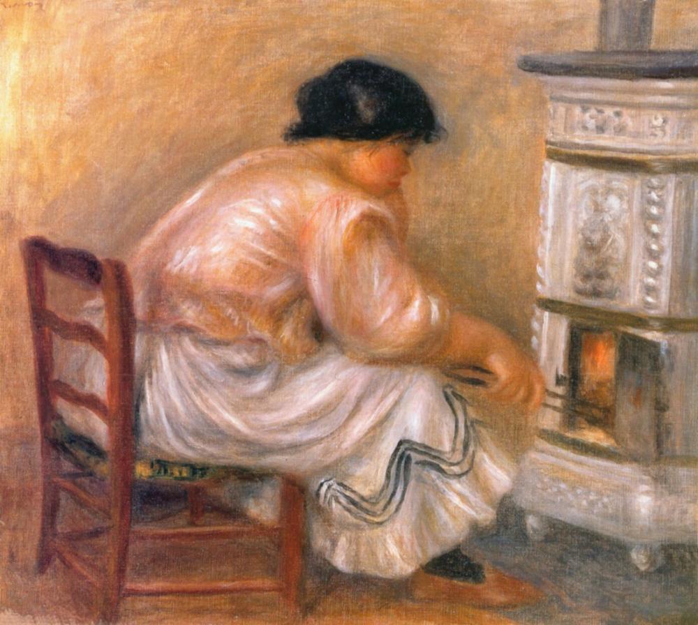 Pierre Auguste Renoir Femme Poele, Canvas, Pierre Auguste Renoir, kanvas tablo, canvas print sales