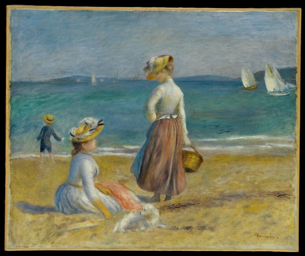 Pierre Auguste Renoir Figures on the Beach, Canvas, Pierre Auguste Renoir, kanvas tablo, canvas print sales