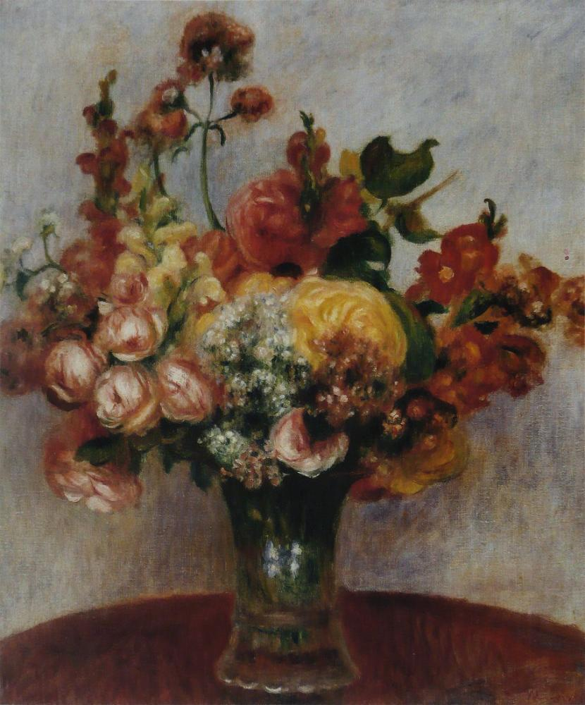 Pierre Auguste Renoir Fleurs Dans Vase Musee de l Orangerie, Canvas, Pierre Auguste Renoir, kanvas tablo, canvas print sales