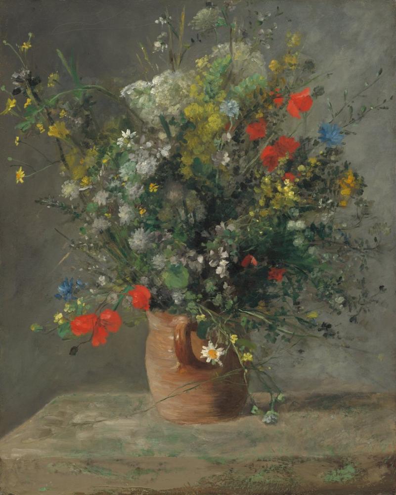 Pierre Auguste Renoir Fleurs Dans Un Vase, Canvas, Pierre Auguste Renoir, kanvas tablo, canvas print sales