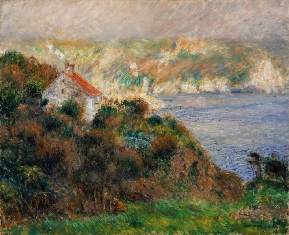 Pierre Auguste Renoir Fog on Guernsey Brouillard, Canvas, Pierre Auguste Renoir, kanvas tablo, canvas print sales