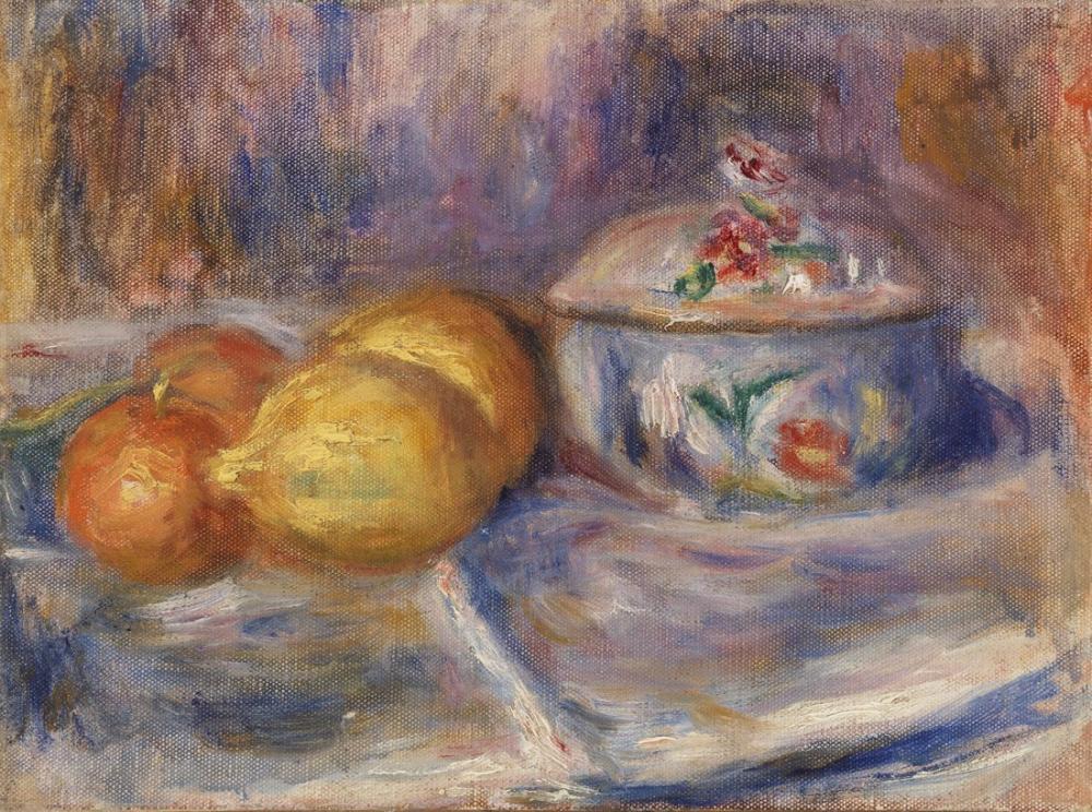 Pierre Auguste Renoir Fruit and Bonbonnière, Canvas, Pierre Auguste Renoir, kanvas tablo, canvas print sales