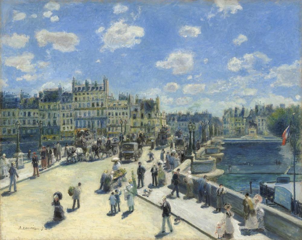 Pierre Auguste Renoir New Bridge, Canvas, Pierre Auguste Renoir, kanvas tablo, canvas print sales