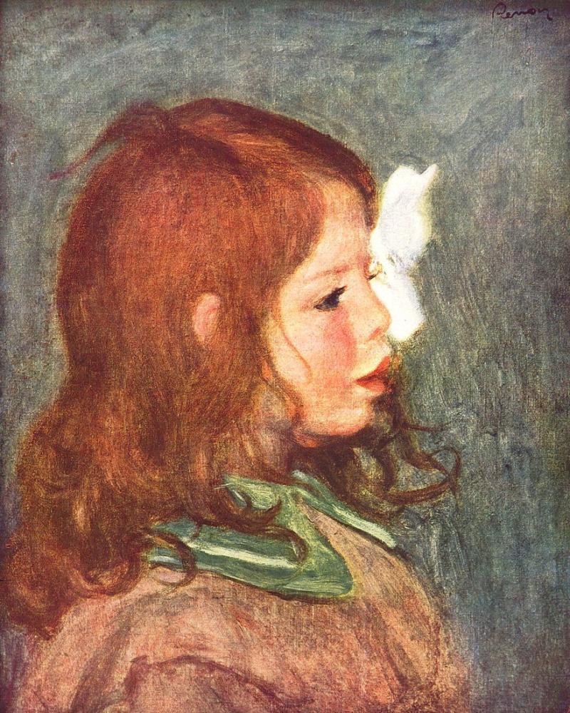 Pierre Auguste Renoir Portrait Of Coco, Canvas, Pierre Auguste Renoir, kanvas tablo, canvas print sales