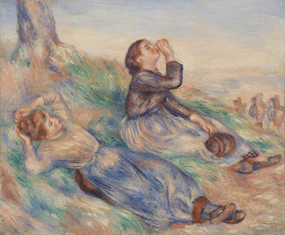 Pierre Auguste Renoir Grape Gatherers Vendangeuses, Canvas, Pierre Auguste Renoir, kanvas tablo, canvas print sales