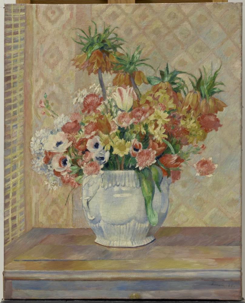 Pierre Auguste Renoir GUGG Still Life Flowers, Canvas, Pierre Auguste Renoir, kanvas tablo, canvas print sales