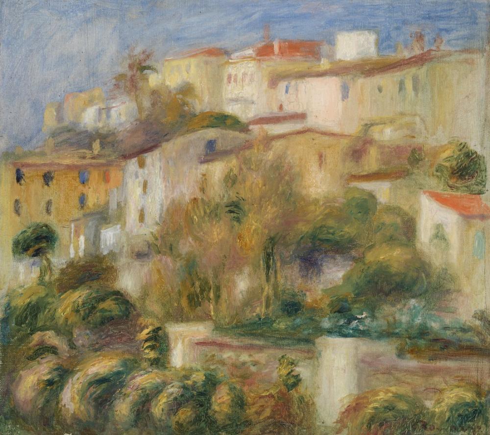 Pierre Auguste Renoir Houses on a Hill, Canvas, Pierre Auguste Renoir, kanvas tablo, canvas print sales