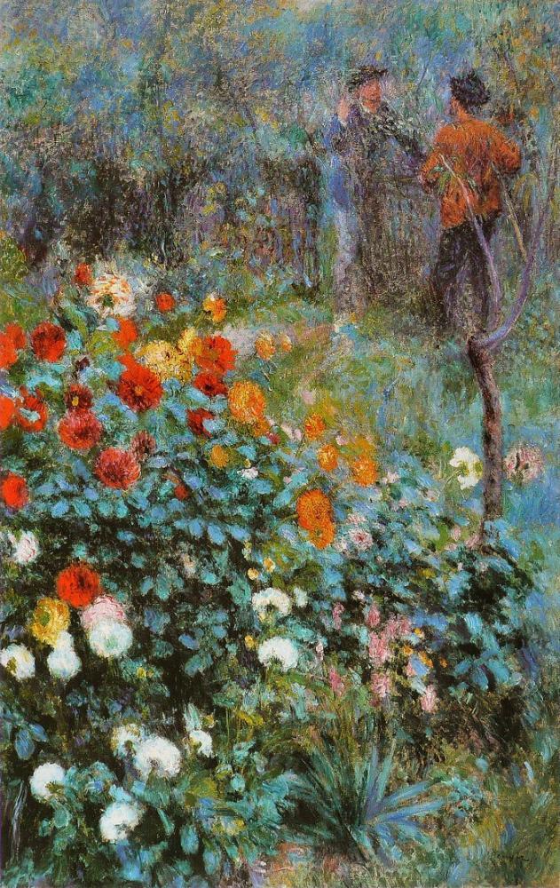 Pierre Auguste Renoir Garden of the Street Cortot, Canvas, Pierre Auguste Renoir, kanvas tablo, canvas print sales