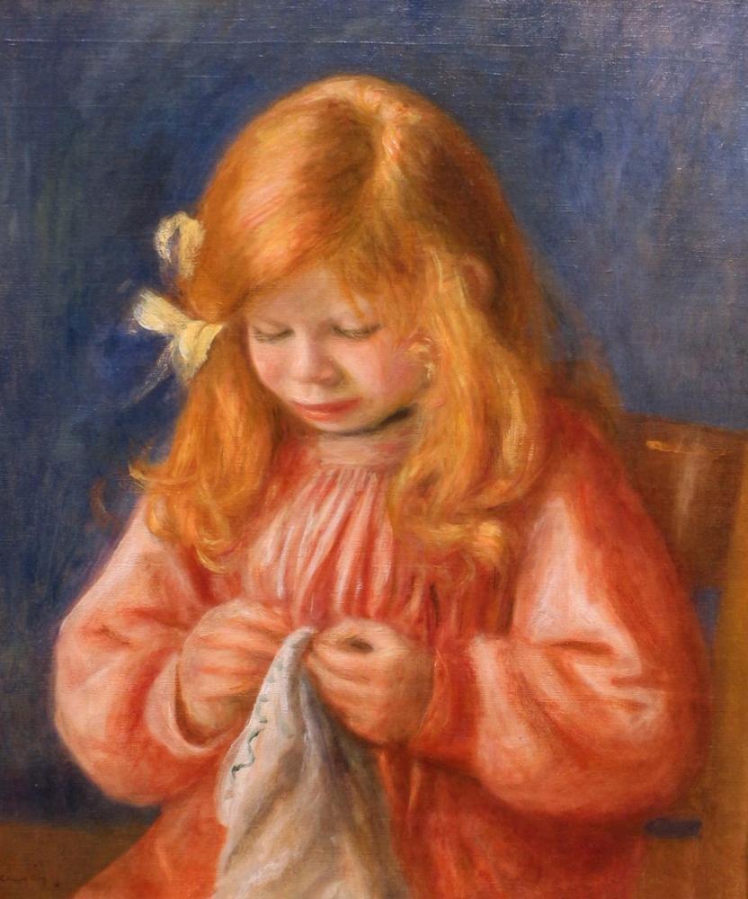 Pierre Auguste Renoir Jean Che Cuce 1899, Canvas, Pierre Auguste Renoir, kanvas tablo, canvas print sales