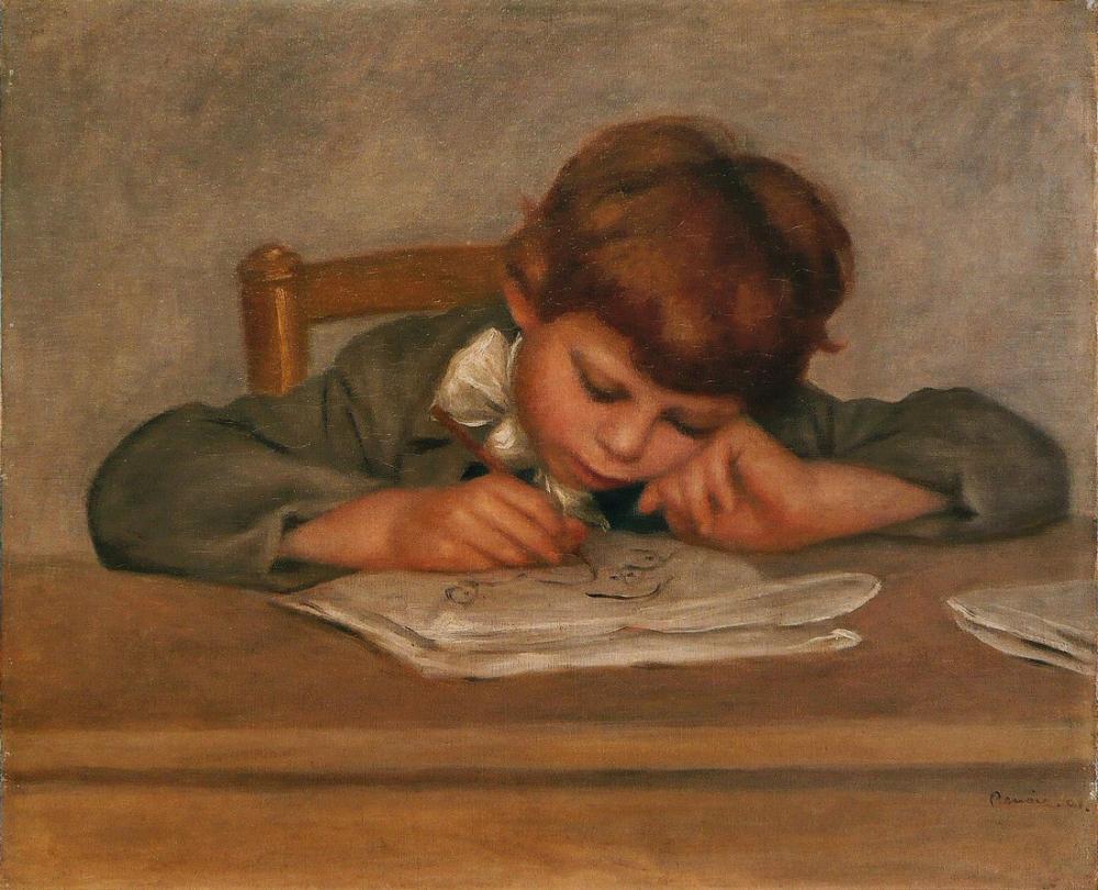 Pierre Auguste Renoir Jean Dessinant, Canvas, Pierre Auguste Renoir, kanvas tablo, canvas print sales