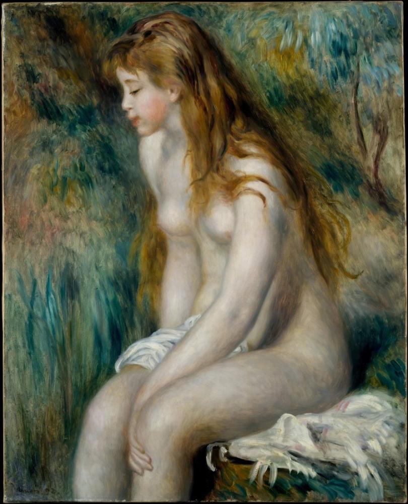 Pierre Auguste Renoir Banyo Genç Kız, Kanvas Tablo, Pierre Auguste Renoir, kanvas tablo, canvas print sales
