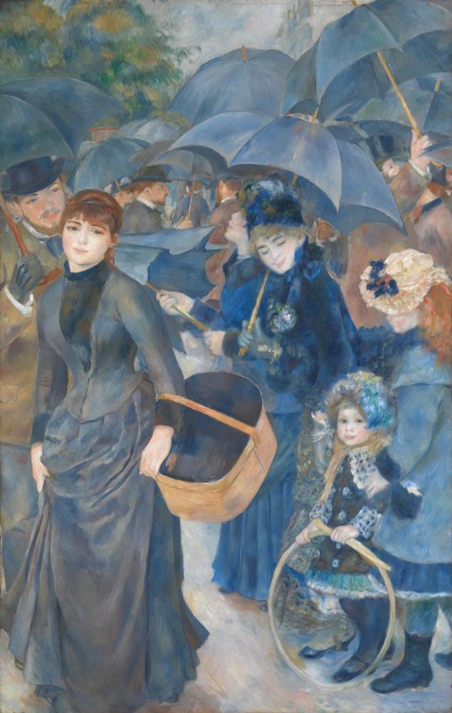 Pierre Auguste Renoir The Umbrellas 1881 86, Canvas, Pierre Auguste Renoir, kanvas tablo, canvas print sales