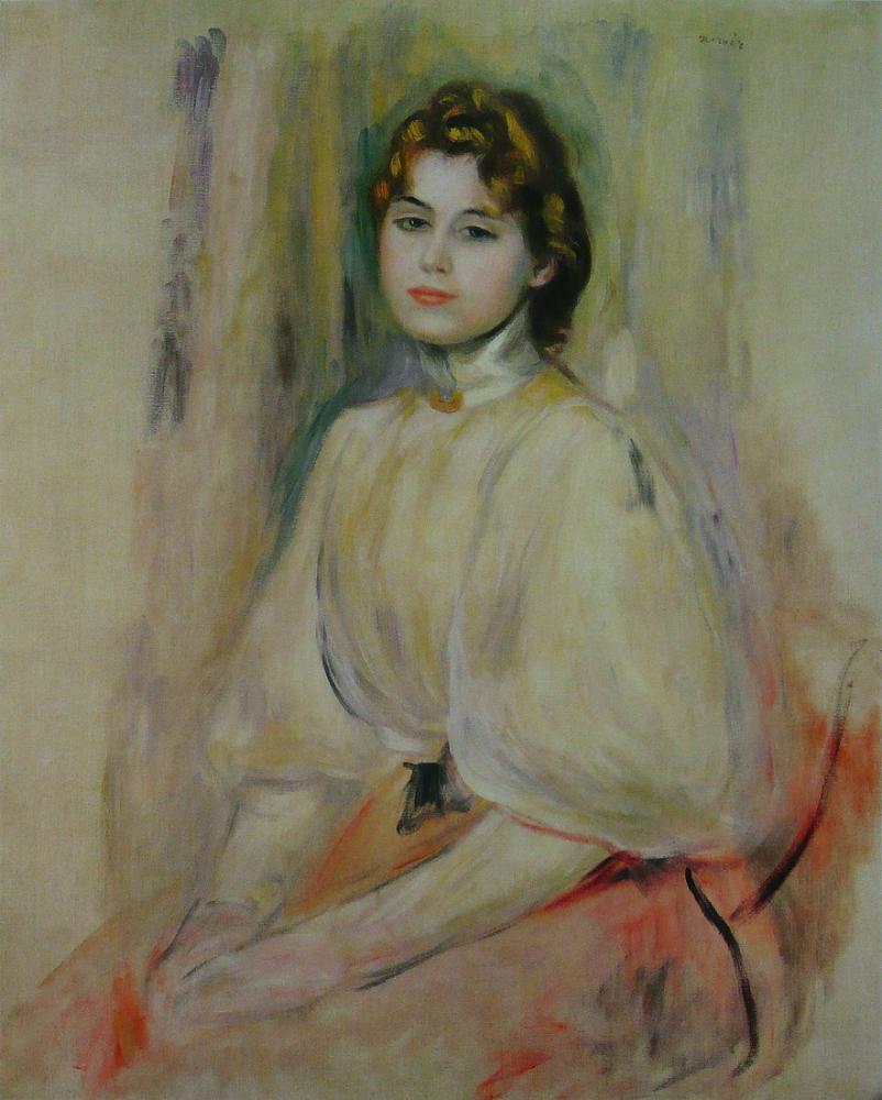Pierre Auguste Renoir Jeune Femme Assise, Canvas, Pierre Auguste Renoir, kanvas tablo, canvas print sales