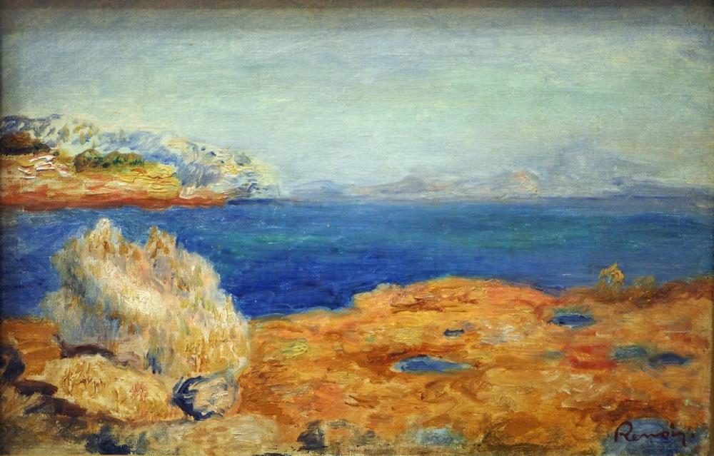Pierre Auguste Renoir Küstenlandschaft, Canvas, Pierre Auguste Renoir, kanvas tablo, canvas print sales