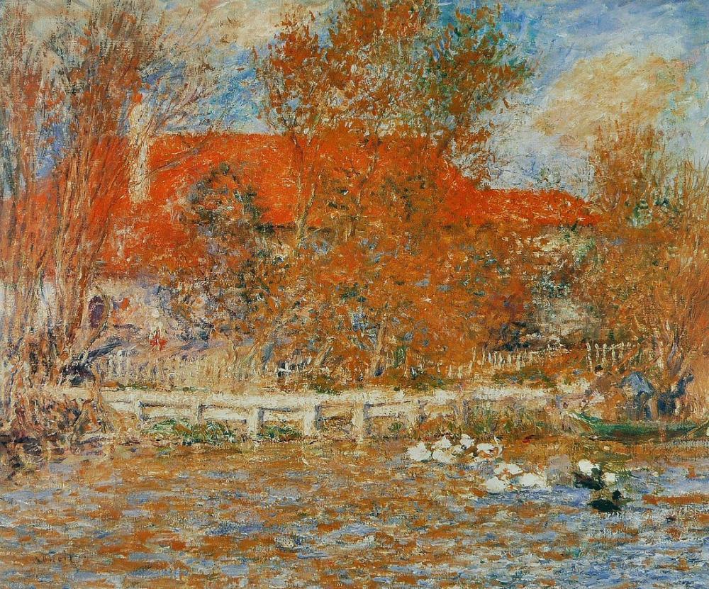 Pierre Auguste Renoir La Mare Aux Canards, Canvas, Pierre Auguste Renoir, kanvas tablo, canvas print sales