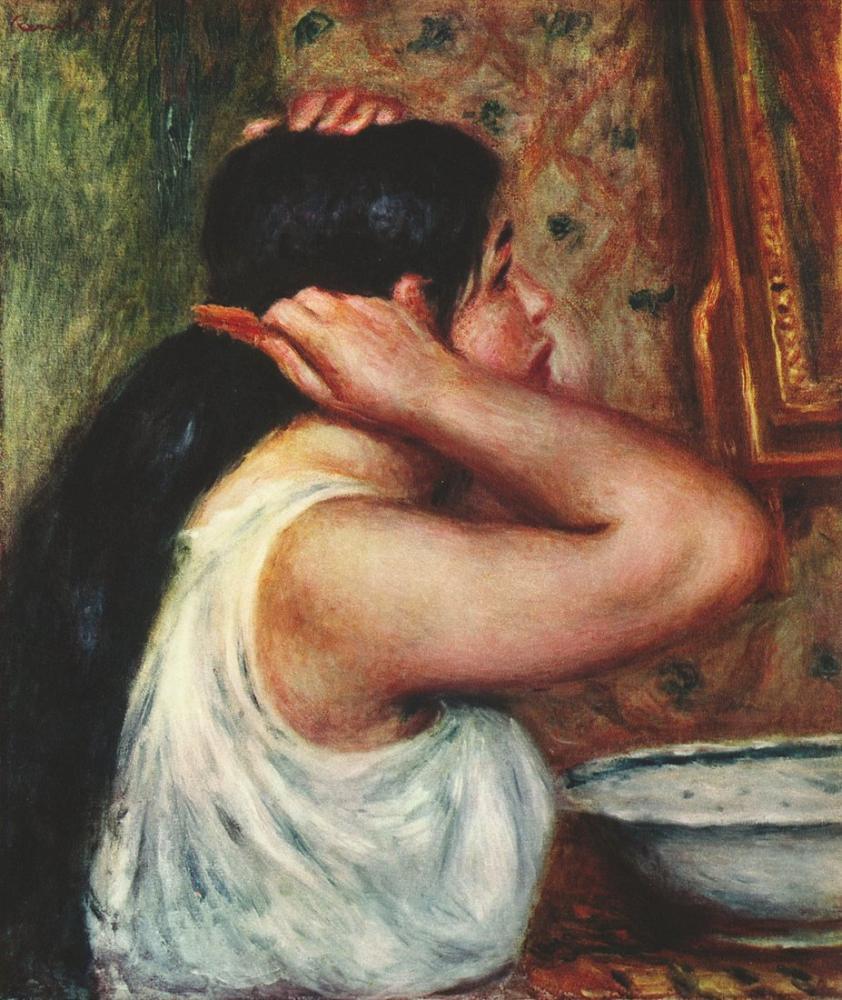 Pierre Auguste Renoir La Toilette 1874, Canvas, Pierre Auguste Renoir, kanvas tablo, canvas print sales