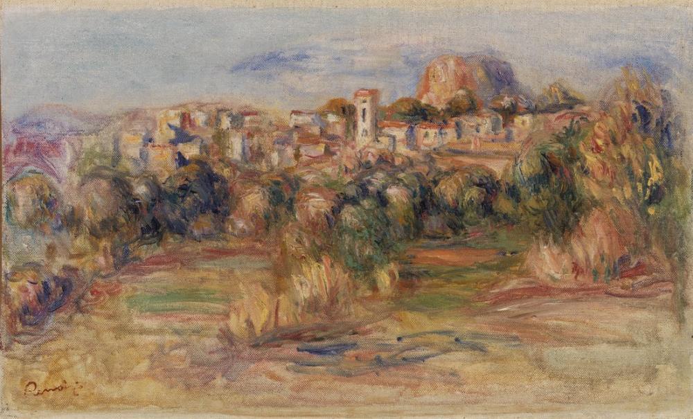 Pierre Auguste Renoir Landscape La Gaude, Canvas, Pierre Auguste Renoir, kanvas tablo, canvas print sales