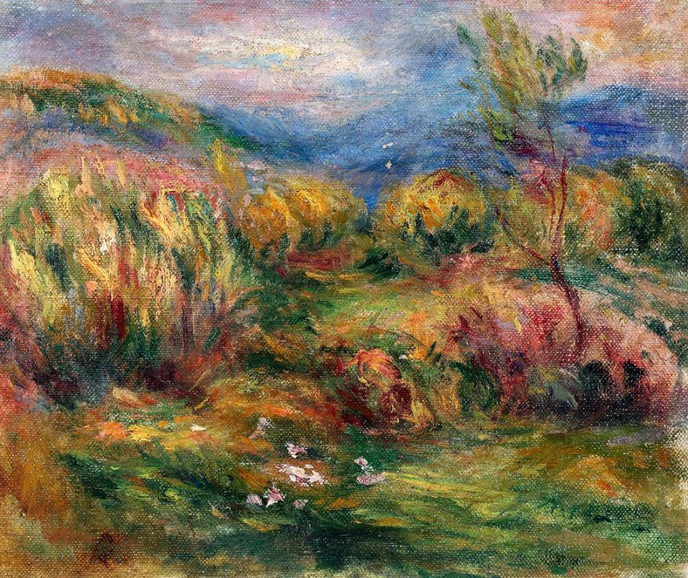 Pierre Auguste Renoir Landscape Near Cagnes Sur Mer, Canvas, Pierre Auguste Renoir, kanvas tablo, canvas print sales
