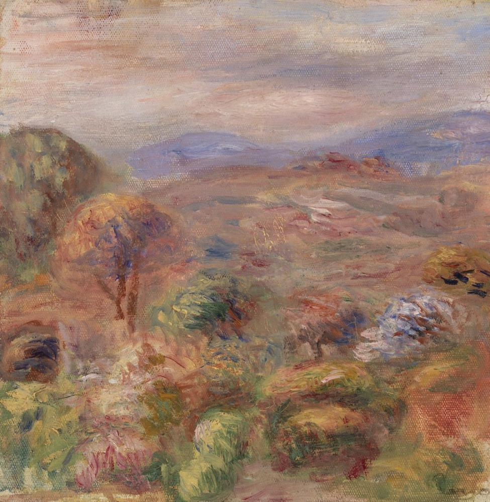 Pierre Auguste Renoir Landscape VI, Canvas, Pierre Auguste Renoir, kanvas tablo, canvas print sales