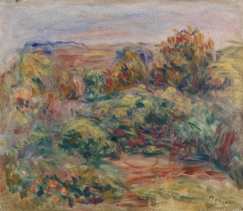 Pierre Auguste Renoir Landscape VII, Canvas, Pierre Auguste Renoir, kanvas tablo, canvas print sales