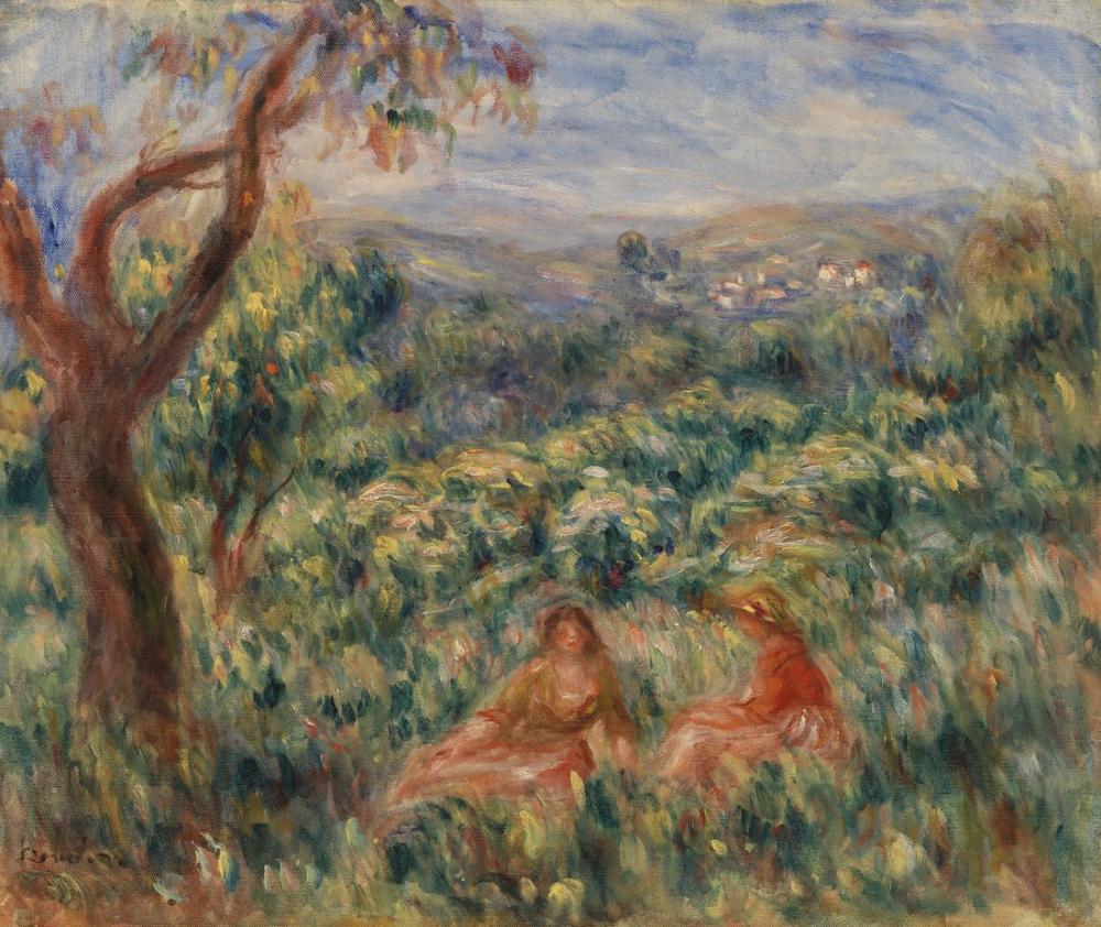 Pierre Auguste Renoir Landscape VIII, Canvas, Pierre Auguste Renoir, kanvas tablo, canvas print sales
