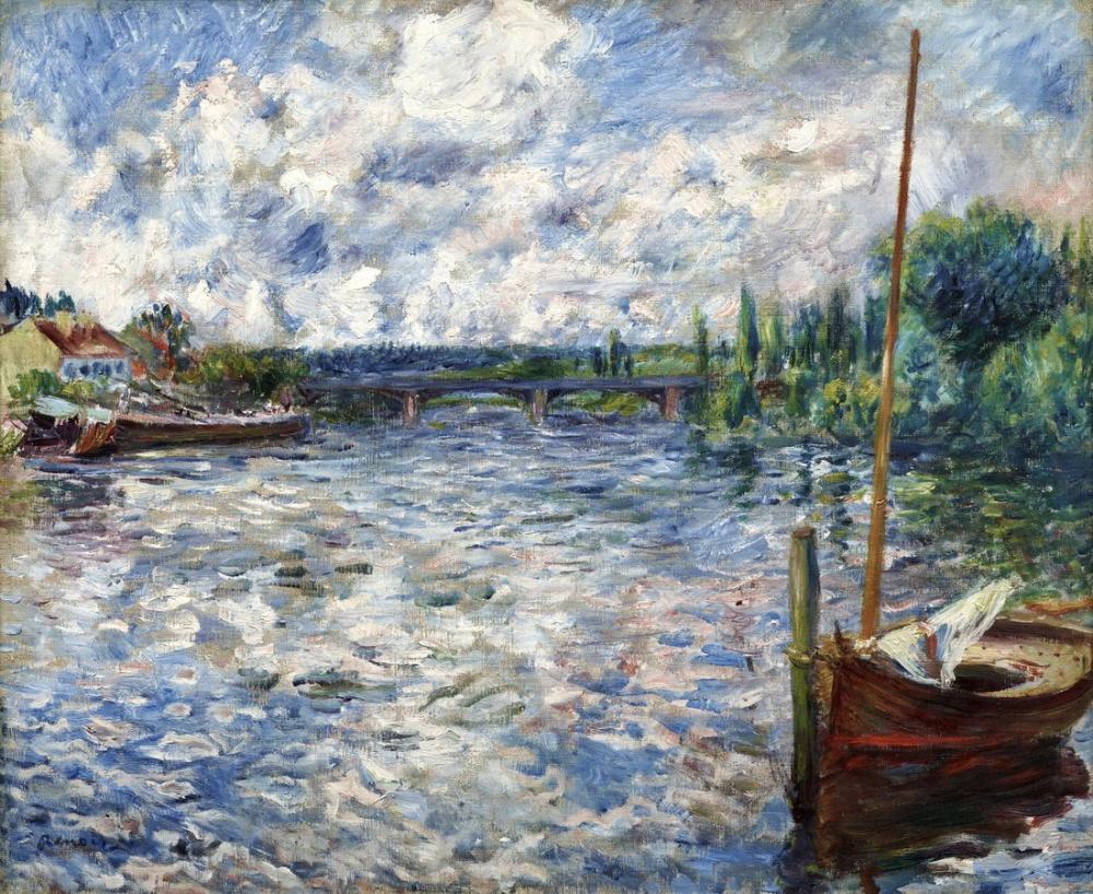Pierre Auguste Renoir La Seine A Chatou 1874, Canvas, Pierre Auguste Renoir, kanvas tablo, canvas print sales