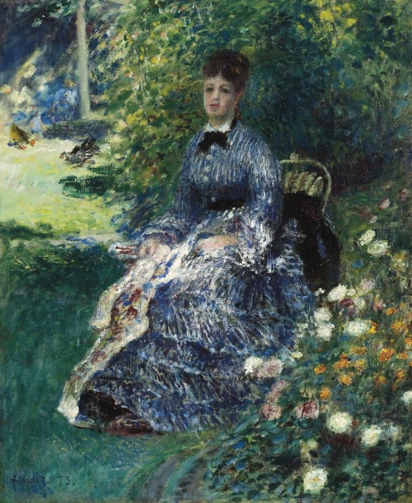 Pierre Auguste Renoir La Tapisserie Dans Le Parc Camille Monet, Canvas, Pierre Auguste Renoir, kanvas tablo, canvas print sales