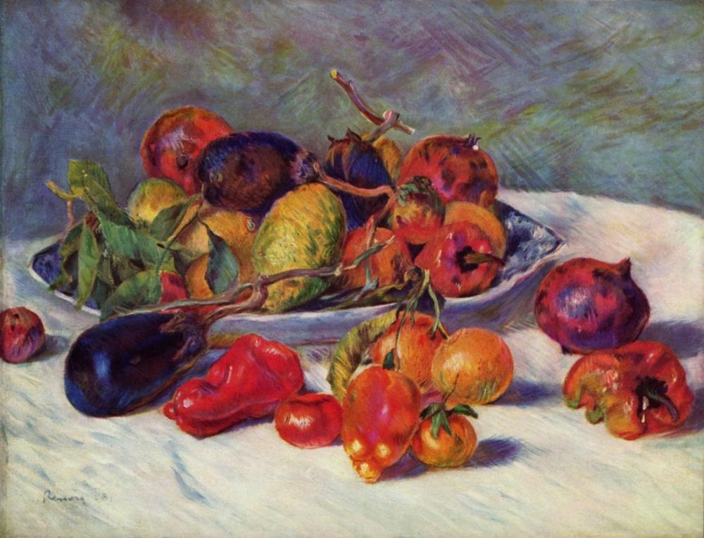 Pierre Auguste Renoir Still Life with Tropical Fruits, Canvas, Pierre Auguste Renoir, kanvas tablo, canvas print sales