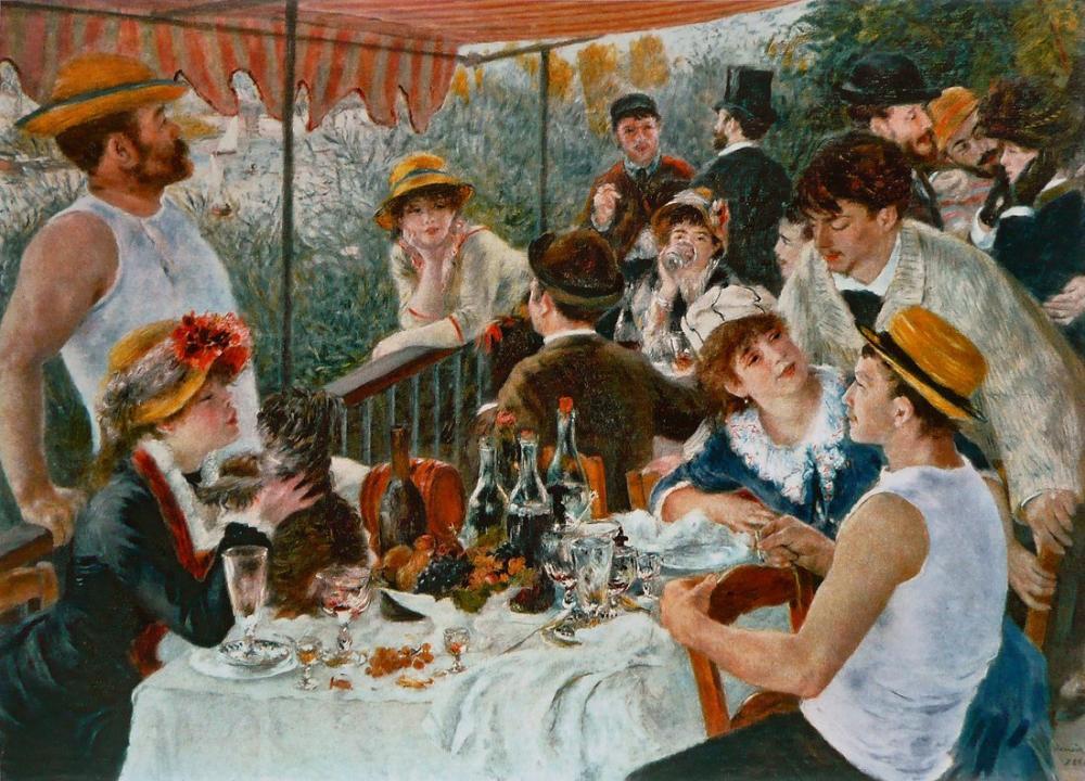 Renoir Tekne Gezintisinde Öğle Yemeği, Kanvas Tablo, Pierre Auguste Renoir, kanvas tablo, canvas print sales