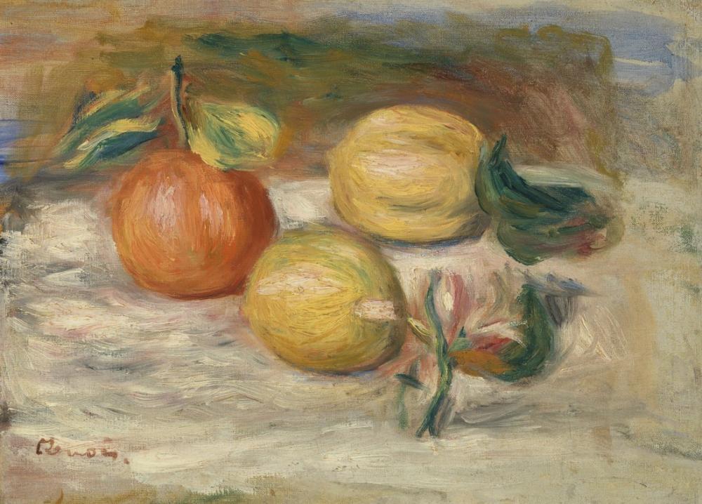 Pierre Auguste Renoir Lemons and Orange, Canvas, Pierre Auguste Renoir, kanvas tablo, canvas print sales
