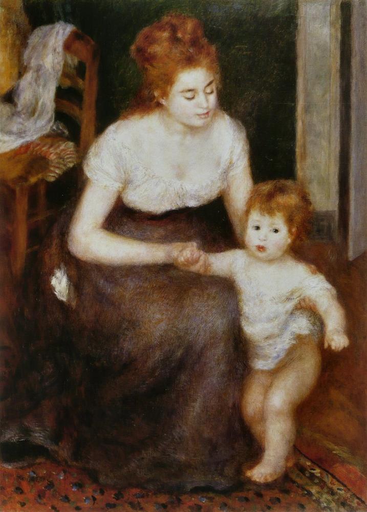 Pierre Auguste Renoir Le Premier Pas, Canvas, Pierre Auguste Renoir, kanvas tablo, canvas print sales