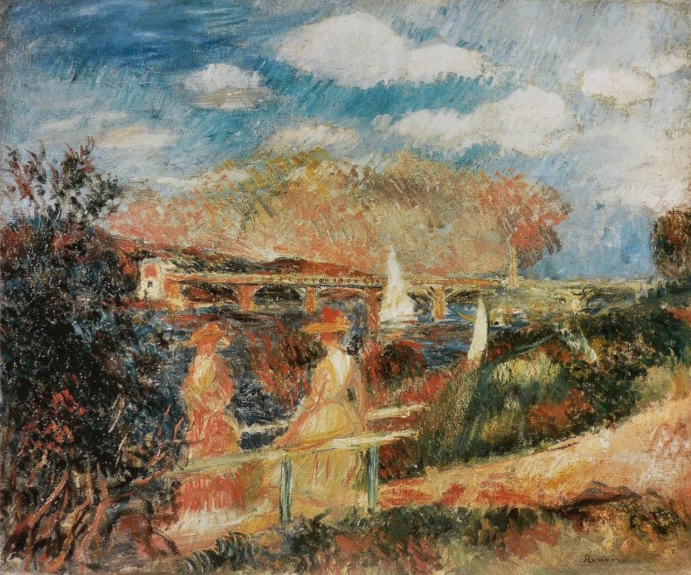 Pierre Auguste Renoir Les Bords De La Seine A Argenteuil, Canvas, Pierre Auguste Renoir, kanvas tablo, canvas print sales